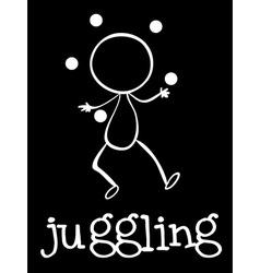 A man juggling vector image