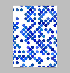 Abstract circle pattern brochure template vector