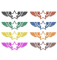 Abstract wings and star vector image