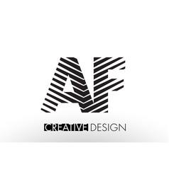 Af a f lines letter design with creative elegant vector