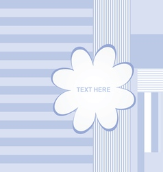 banner flower empty in blue color vector image