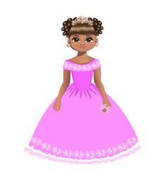 Beautiful princess with diadem vector