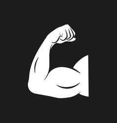 Biceps arm curl icon design isolated vector