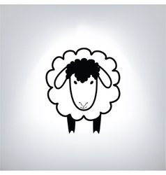 Black silhouette of sheep vector