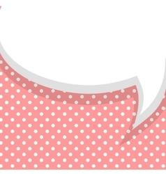 Blank pink balloon template vector