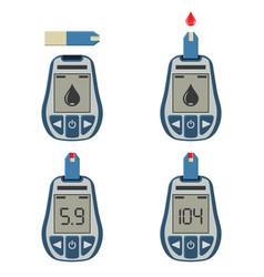 blood glucose meter vector image