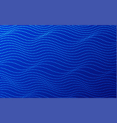 blue wavy dotted stripes background vector image