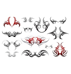 Body art tribal tattoo set vector image