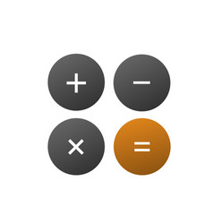 Calculator logo vector