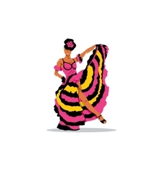 cancan girl sign french woman dancer vector image