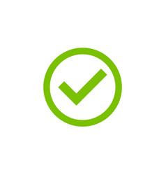 check mark icon simple design vector image