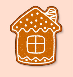 Christmas cookie house cake sweet desserts vector