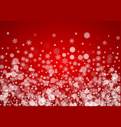 christmas snow on red background vector image