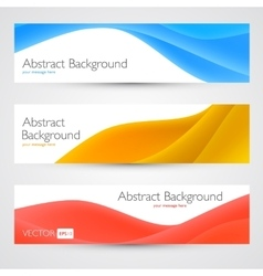 Colorful waves abstract banners vector