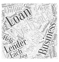 Creating small business loans online Word Cloud vector image