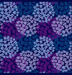 Deep blue hydrangea bouquet seamless pattern vector