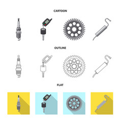 Design of auto and part symbol collection vector