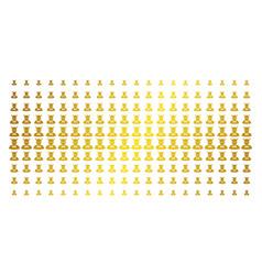 Devil gold halftone pattern vector