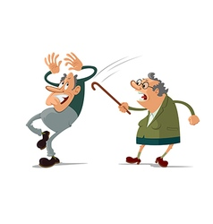 Elderly couple quarrel vector