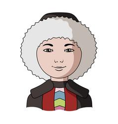 eskimohuman race single icon in cartoon style vector image