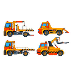 evacuator cars various pictures vector image