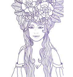 Fantasyfairy with violet outlin vector