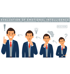 Flat banner evalution emotional intelligence vector
