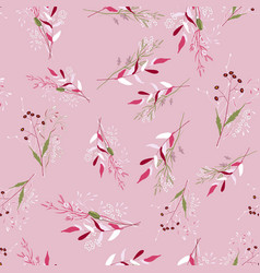 Floral for fashion fabric scarf prints fantasy vector