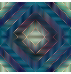 Geometric matrix pattern on blurred background vector