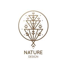 geometrical flower logo vector image