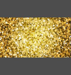 gold star glitter background vector image
