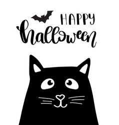 halloween kitten vector image