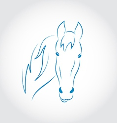 Hand drawn head horse vector image