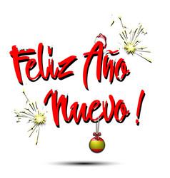 Happy new year in spanish vector