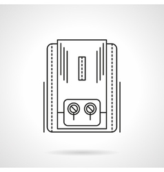 Heating equipment flat line icon vector