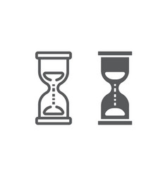 hourglass line and glyph icon development vector image