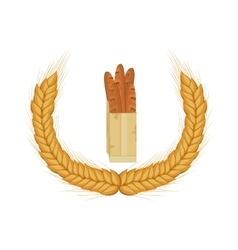 Isolated baguette design vector image