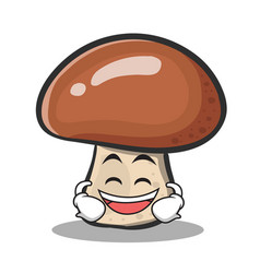 Laughing mushroom character cartoon vector