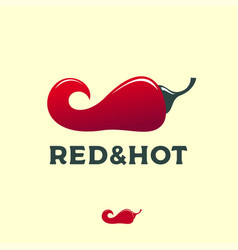 logo red hot pepper restaurant emblem spicy market vector image
