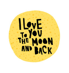 Love moon vector