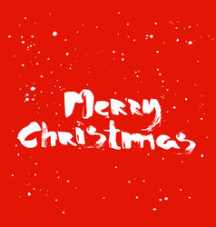 merry christmas calligraphic lettering white vector image