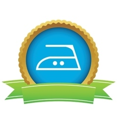 Middle temperature ironing certificate icon vector