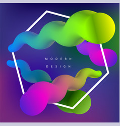 moden colorful vector image