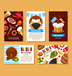 oktoberfest holiday flat posters templates vector image