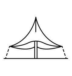 One pillar tent icon outline style vector
