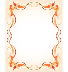 orange frame vector image