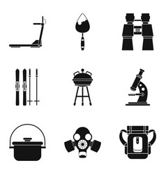 outfit icons set simple style vector image