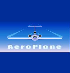 plane flies in the sky vector image