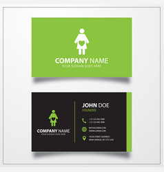 Pregnant woman icon business card template vector