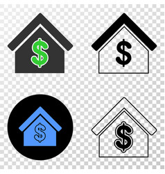 rent house eps icon with contour version vector image